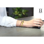 Bracelet Marrakech anis avec une perle de tahiti (6)