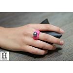 Bague Double-Coeur rose et perle de tahiti (3)