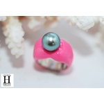 Bague Double-Coeur rose et perle de tahiti (8)