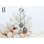 Boucles d'oreilles pendants et perles de tahiti (6)