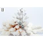Boucles doreilles pendants et perles de tahiti