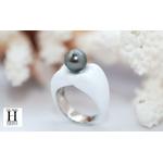 Bague Double-Coeur blanche et perle de tahiti (6)
