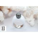 Bague Double-Coeur blanche et perle de tahiti (7)