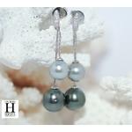 Boucles d'oreilles Toi et Moi perles de tahiti (3)