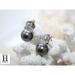 Boucles doreilles diamants et perles de tahiti (4)