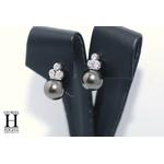 Boucles doreilles diamants et perles de tahiti (3)