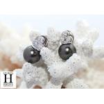 Boucles d'oreilles diamants et perles de tahiti (5)