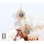 Boucles d'oreilles Créoles et perles de tahtii (3)