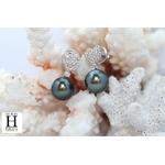 Pendants doreilles Coeurs en brillants et perles de tahiti (6)
