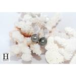 Boucles doreilles Flocons de brillants et perles de tahiti (3)