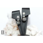 Boucles doreilles Flocons de brillants et perles de tahiti (6)