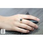 Bague Honeymoon saphirs et perles de tahiti (3)