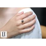 Bague Honeymoon saphirs et perles de tahiti (2)