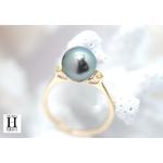 Bague Honeymoon saphirs et perles de tahiti