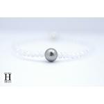Bracelet Cristaux et perle de tahiti