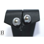 Boucles doreilles Omega  et perles de tahiti (3)