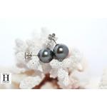 Boucles doreilles Omega  et perles de tahiti (4)