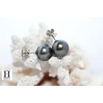 Boucles d'oreilles Omega  et perles de tahiti (5)