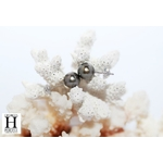 Boucles doreilles Boutons et perles de tahiti  (3)