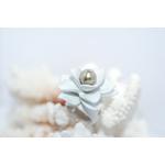 Bague Magniolia blanche et perle de tahiti