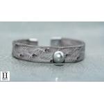 Bracelet Africa autruche grise et perle de tahiti (3)