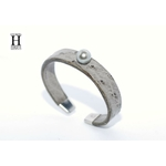 Bracelet Africa autruche grise et perle de tahiti (5)