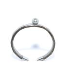 Bracelet Africa autruche grise et perle de tahiti (6)