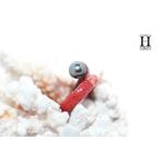 Bague cuir de raie galuchat rouge et perle de tahiti (2)