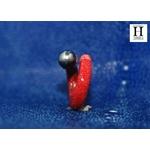 Bague cuir de raie galuchat rouge et perle de tahiti (7)