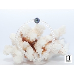 Bracelet Cristaux transparents et perle de tahiti bleu (4)