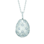 2.3 Fabergé Treillage Diamond White Gold Matt Pendant