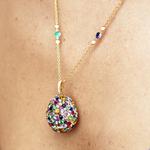 Faberge Multi-Coloured Egg Pendant