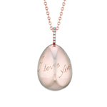 409FP745 Simple I Love You Rose Gold Pendant