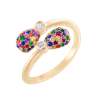 1165RG2107 Emotion Multi-coloured Crossover Ring