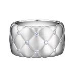 452RG993 Treillage Diamond White Gold Matt Wide Ring