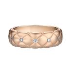 452RG837 Treillage Diamond Rose Gold Matt Thin Ring