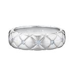 452RG1030 Treillage Diamond White Gold Polished Thin Ring