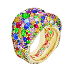 1.1 Fabergé Emotion Multi coloured Ring