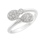 1165RG2106 Emotion Diamond Crossover Ring