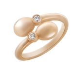 Rose Gold Simple Egg Crossover Ring 1120RG2076