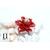 Bague Magniolia rouge et perle de tahiti