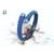 Bracelet Africa galuchat bleu et perles de tahiti