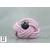 Bague noeud cuir rose et perle de tahiti