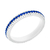 9. Fabergé Sapphire White Gold Fluted Band