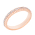 13. Fabergé Diamond Rose Gold Fluted Band