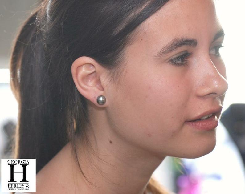 Boucles doreilles Boutons perles de tahiti (5)
