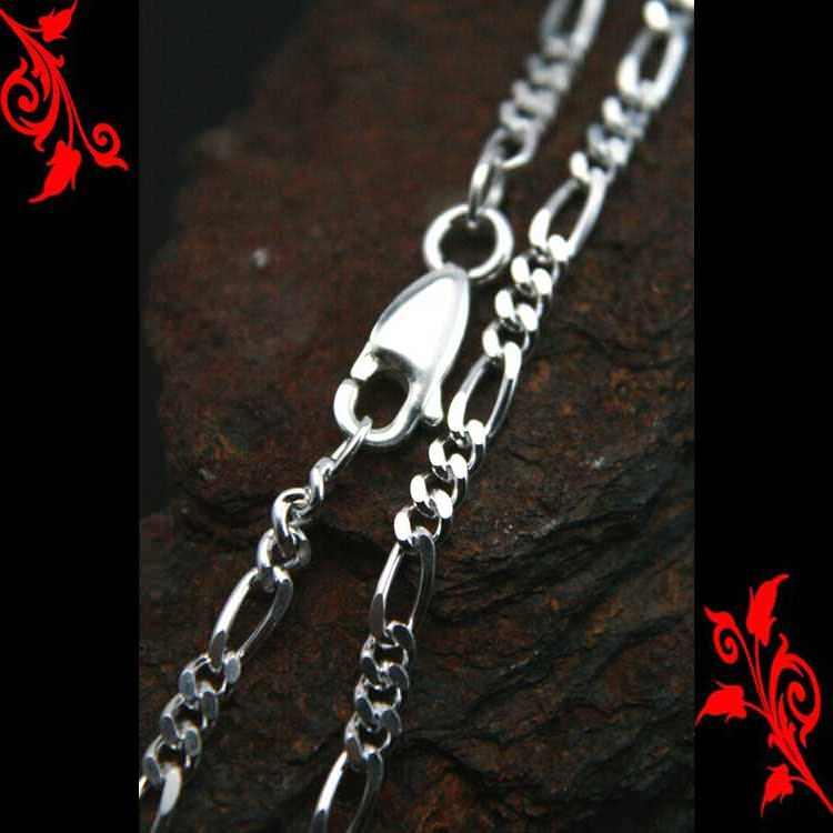 Bracelet goumette femme maille figaro argent BRA5 3.4g