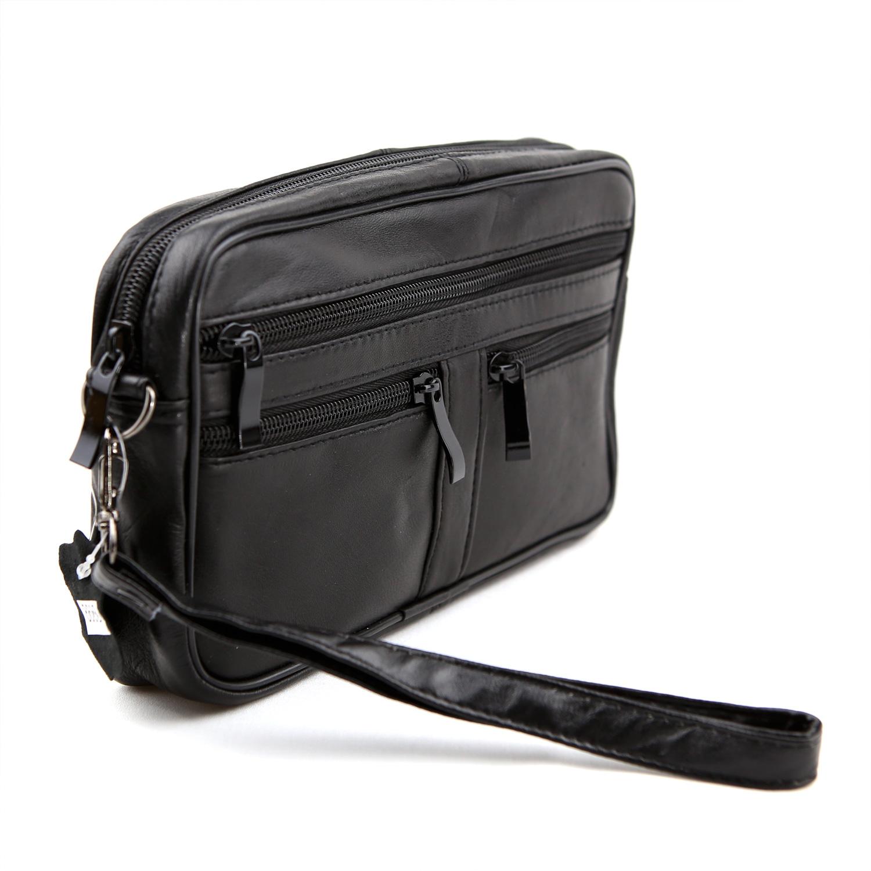 Vide poche sac à main cuir agneau SB8668 noir