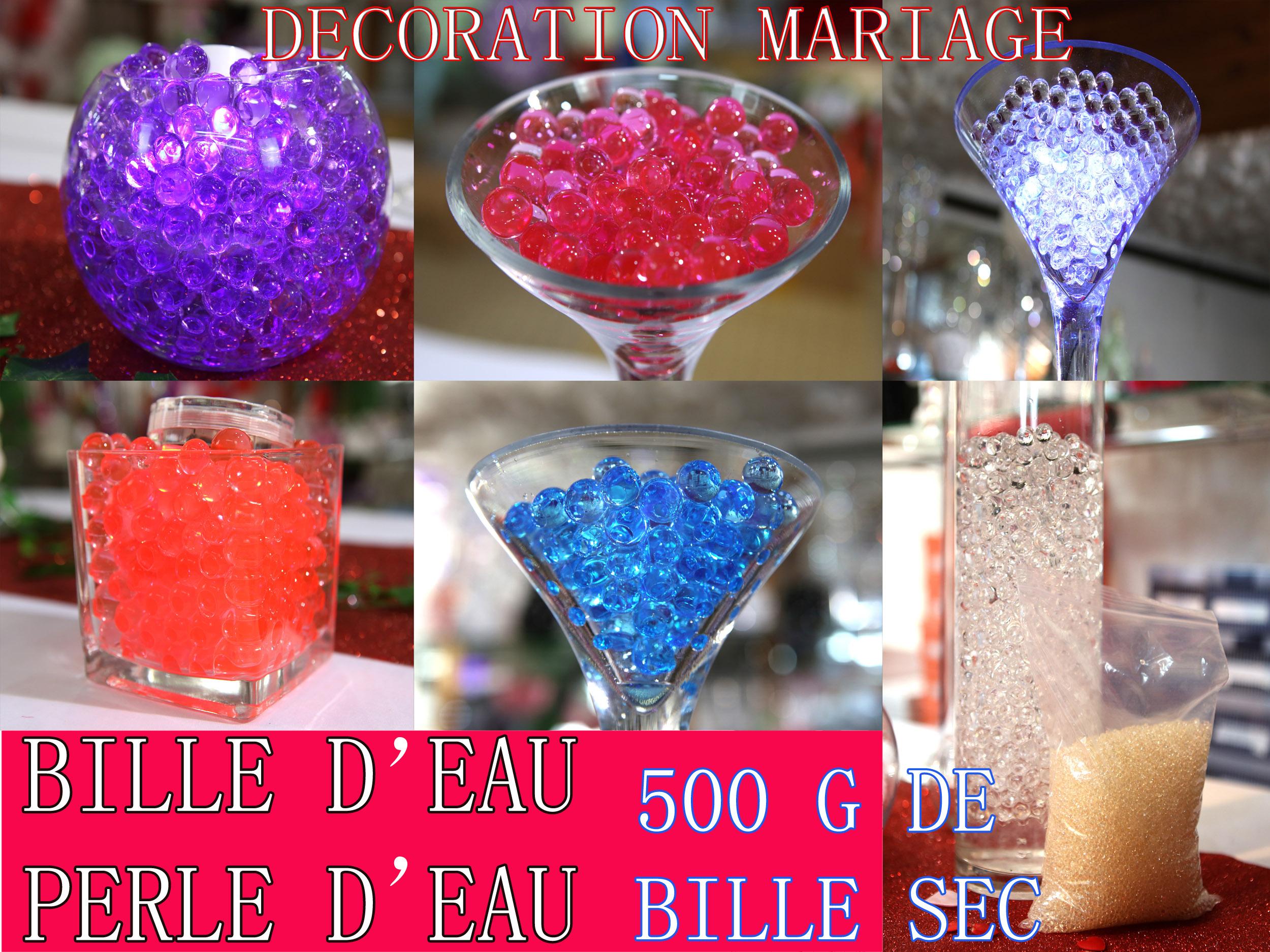 Paquet billes d\'eau hydrogel déco tables mariage floral plantes DBE2