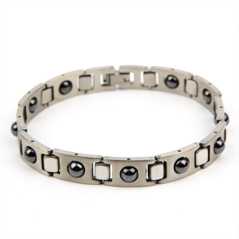 Bracelet acier magnétique anti stress anti douleur BRSB2